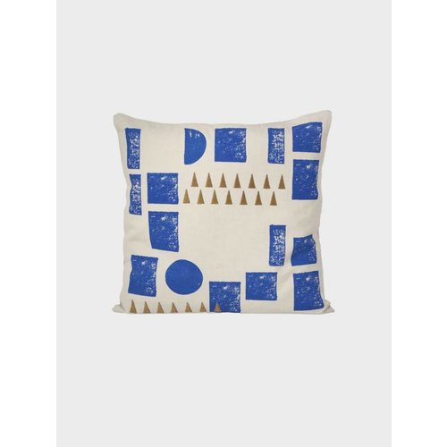 ferm LIVING Block Cushion - Mint