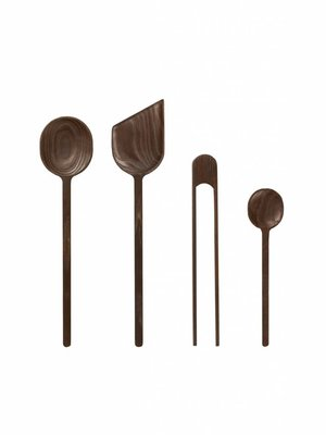ferm LIVING Tomo Set of Wooden Kitchen Tools