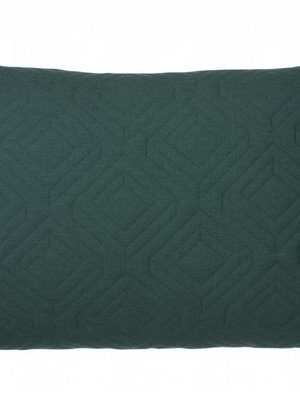 ferm LIVING Quilt Cushion - Dark Green 60x40