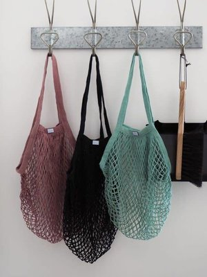 Roake Rosie Drake-Knight The 'Vicky' Mesh Shopping Bag - Black