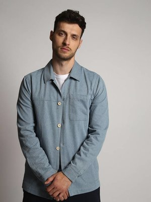 HYMN London 'CHIMENIA' - BLEACHED DENIM OVERSHIRT