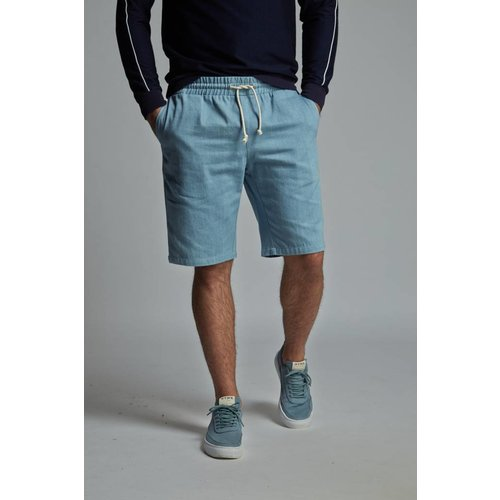 HYMN London 'LANTERN' Denim Drawstring Shorts