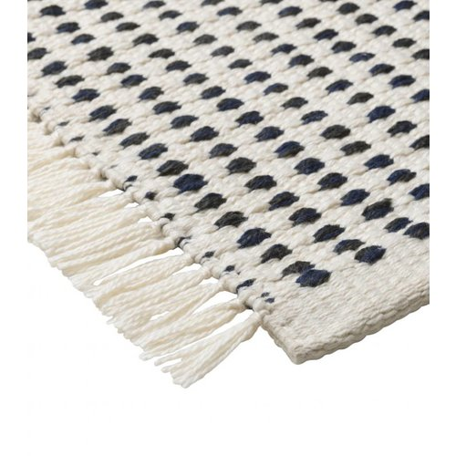 ferm LIVING Way Rug - off White/Blue