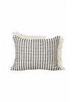 ferm LIVING Way Cushion - off White/Blue 70x50