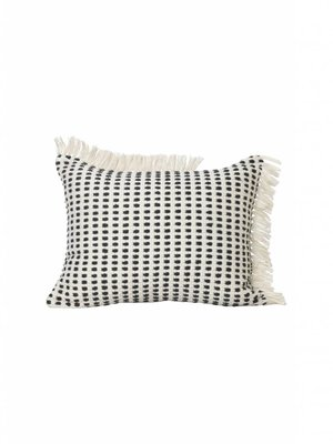 ferm LIVING Way Cushion - off White/Blue 70x50