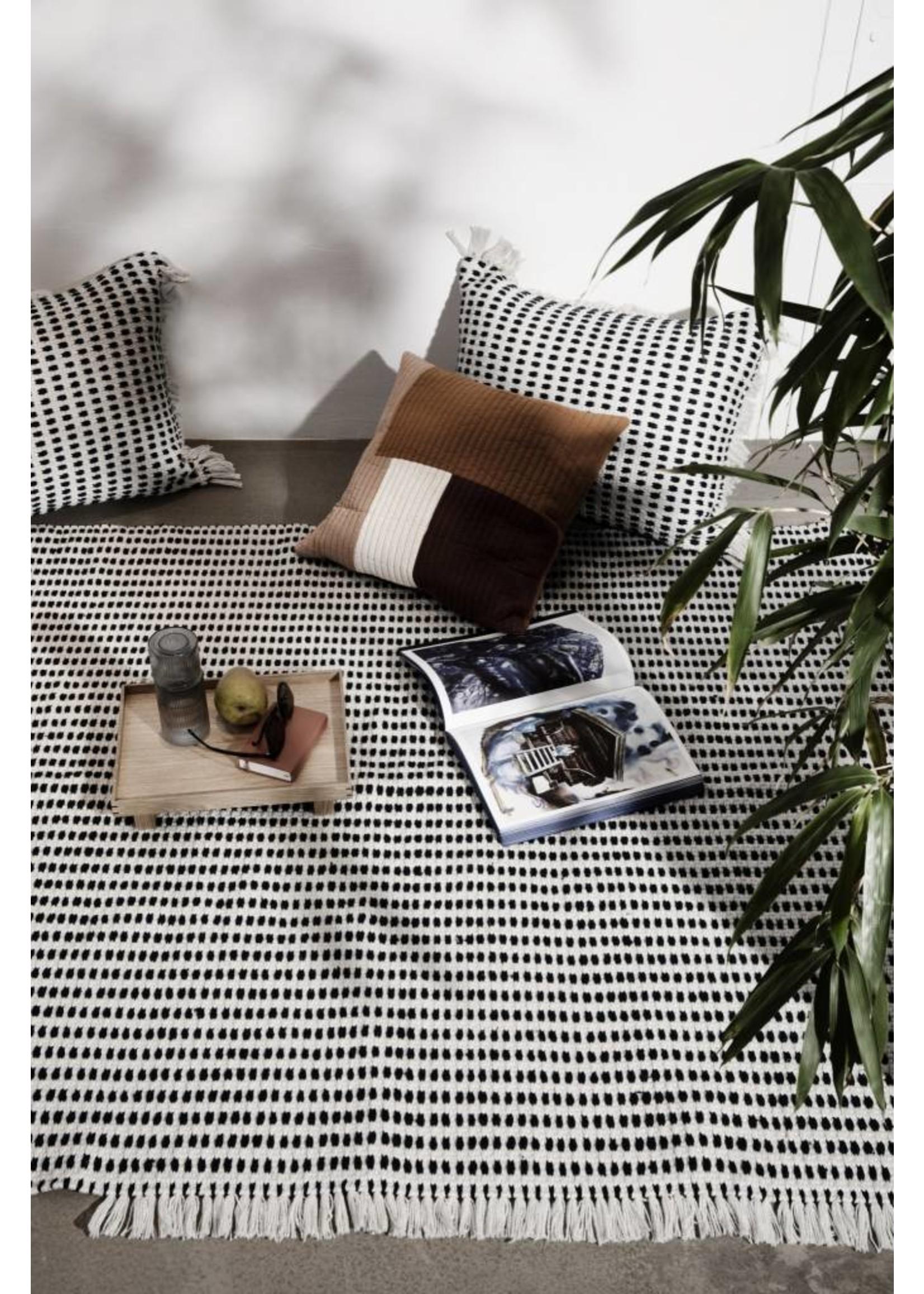 ferm LIVING ferm LIVING Way Cushion - off White/Blue 70x50