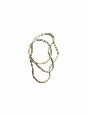 ferm LIVING Pond Trivets - Set of 3 - Brass