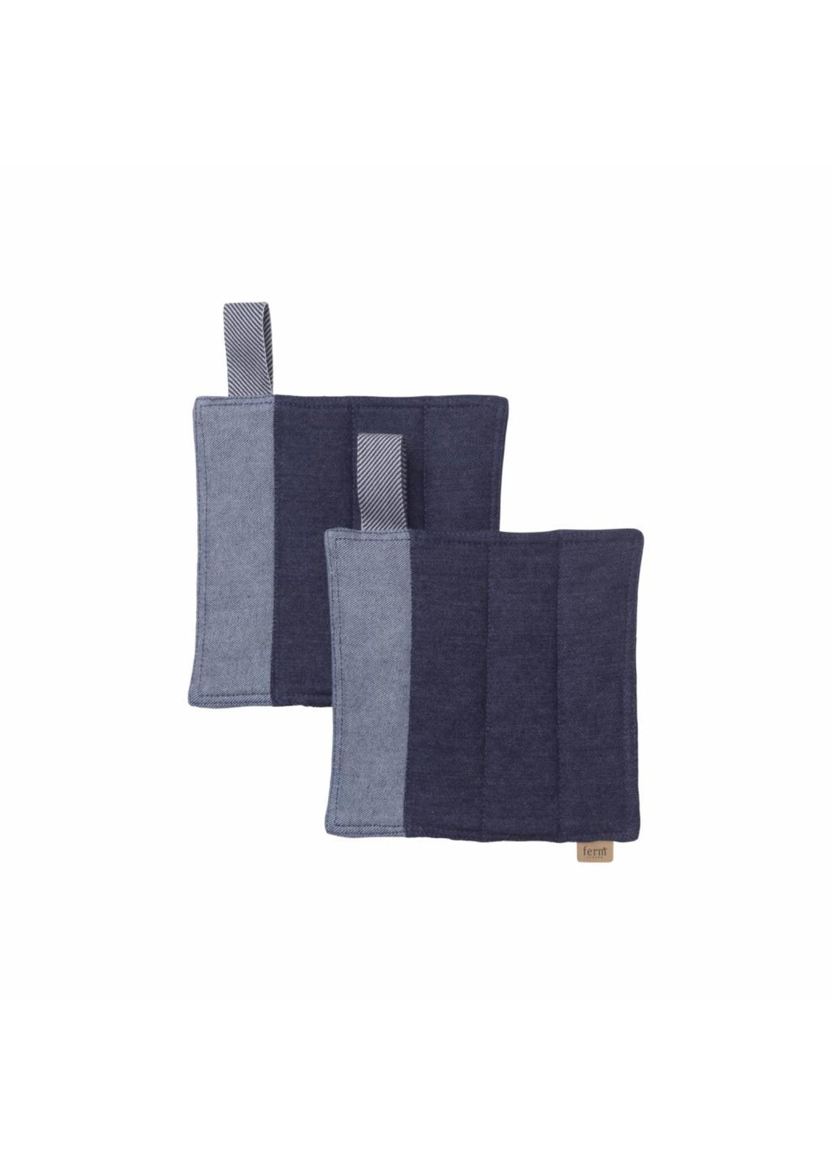 ferm LIVING ferm LIVING Denim Pot Holders - Set of 2 - Blue