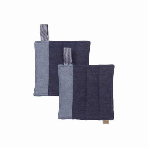 ferm LIVING Denim Pot Holders - Set of 2 - Blue