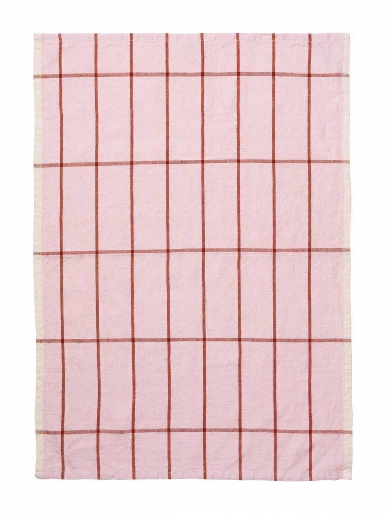 ferm LIVING ferm LIVING Hale Yarn Dyed Linen Tea Towels - Rose/Rust
