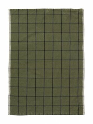 ferm LIVING ferm LIVING Hale Yarn Dyed Linen Tea Towels - Green/Black