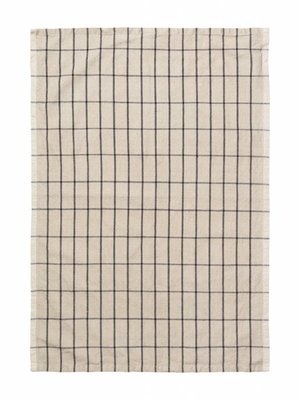 ferm LIVING ferm LIVING Hale Yarn Dyed Linen Tea Towels - Sand/Black