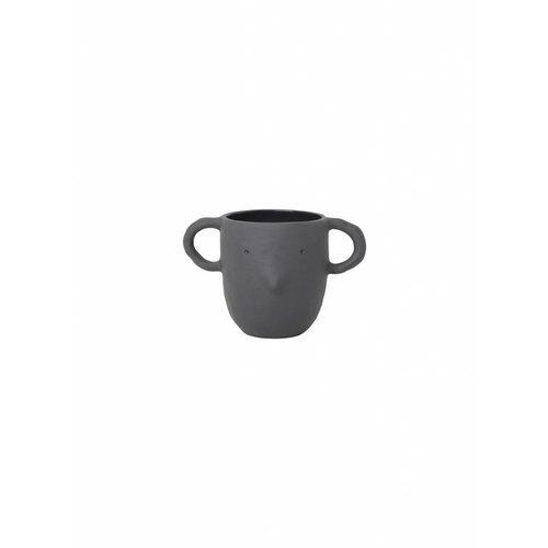 ferm LIVING Mus Plant Pot - Dark Grey - Large