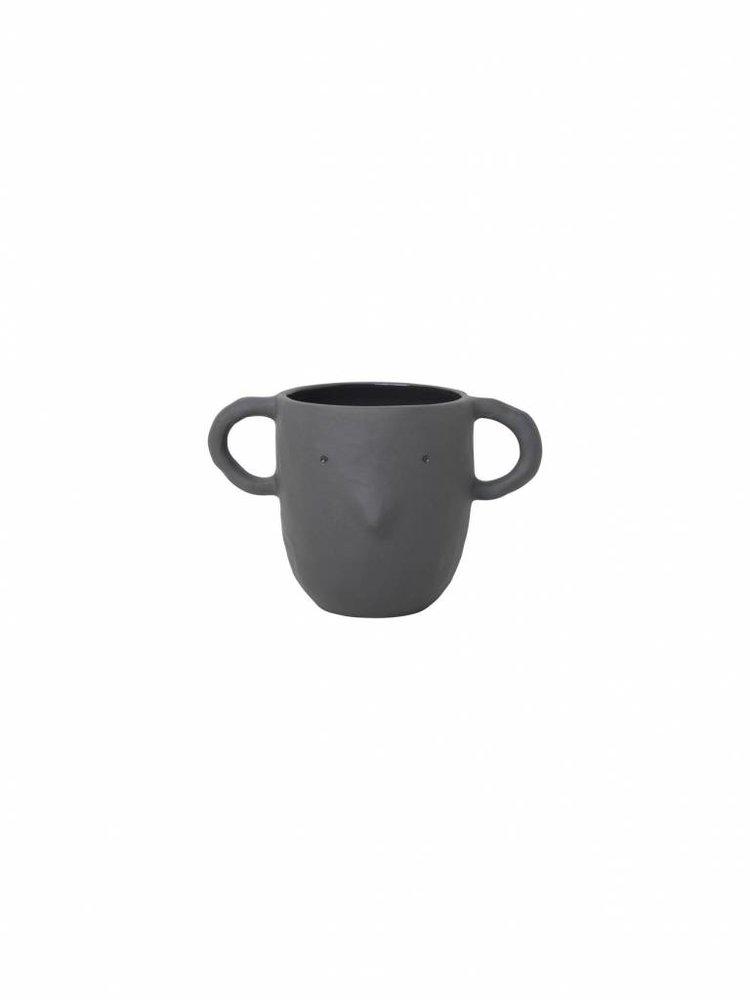 ferm LIVING ferm LIVING Mus Plant Pot - Dark Grey - Large