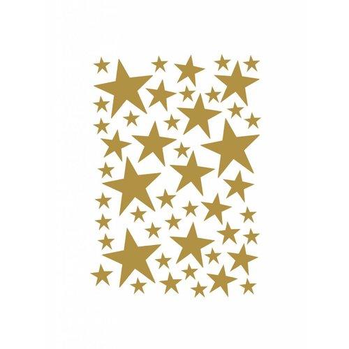 ferm LIVING Mini Stars Wallsticker - Brass