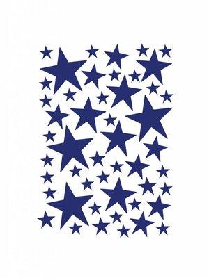 ferm LIVING Mini Stars Wallsticker - Blue