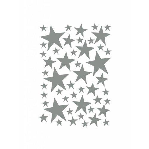 ferm LIVING Mini Stars Wallsticker - Grey