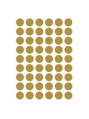 ferm LIVING Mini Dots Wallsticker - Brass