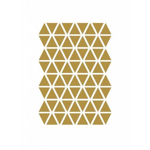 ferm LIVING Mini Triangles Wallsticker  - Brass