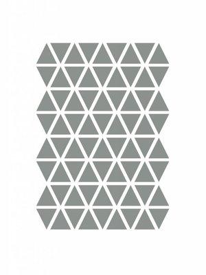 ferm LIVING Mini Triangles Wallsticker  - Grey