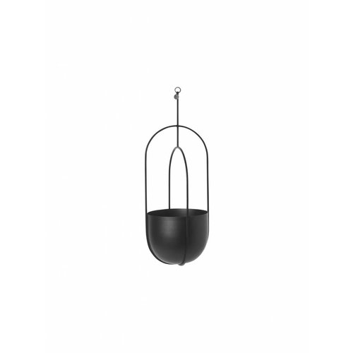 ferm LIVING Hanging Deco Plant Pot - Black