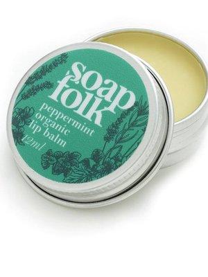 Soap Folk Peppermint Organic Lip Balm