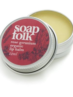 Soap Folk Rose Geranium Organic Lip Balm