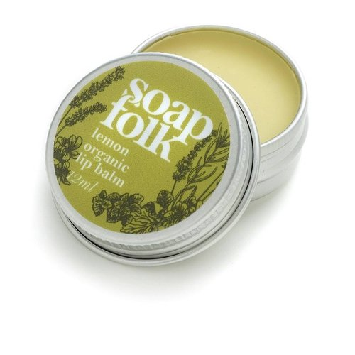 Soap Folk Lemon Organic Lip Balm