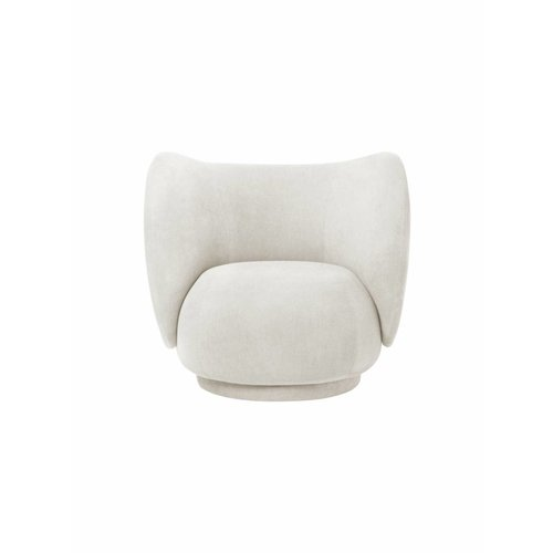ferm LIVING Rico Lounge Chair - Brushed Velvet