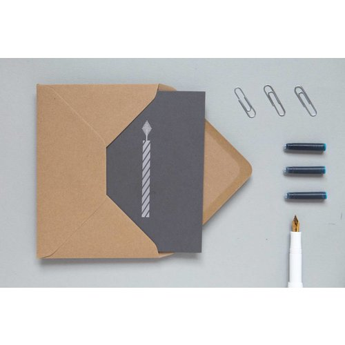 Ola Foil Blocked Cards: Candle Grey/Silver