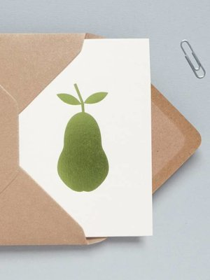 Ola Foil Blocked Cards: Pear Stone/Green