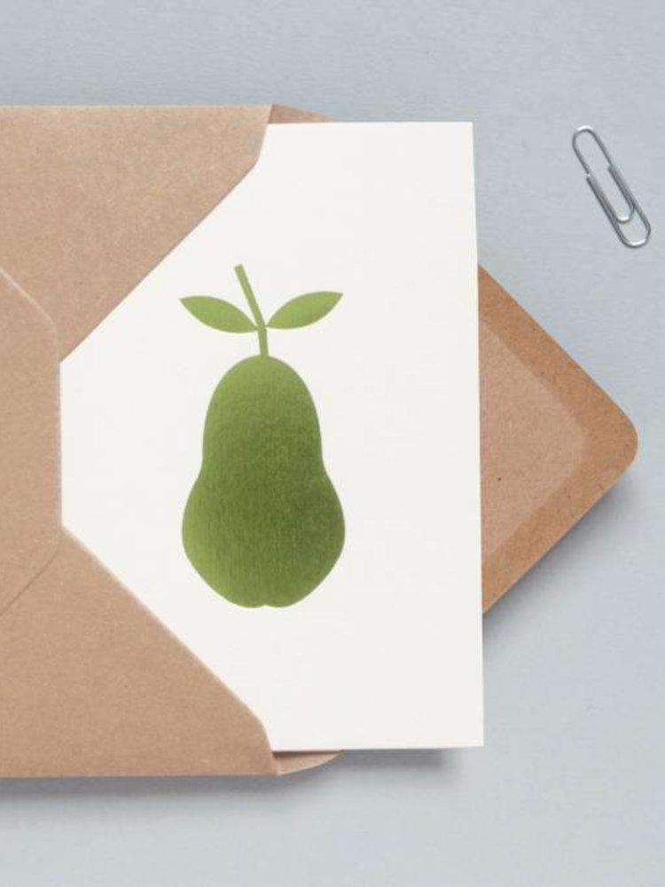 Ola Ola Foil Blocked Cards: Pear Stone/Green