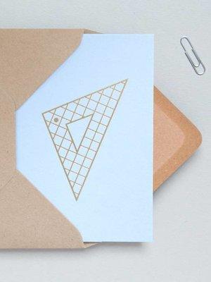 Ola Foil Blocked Cards: Set Square Blue/Brass