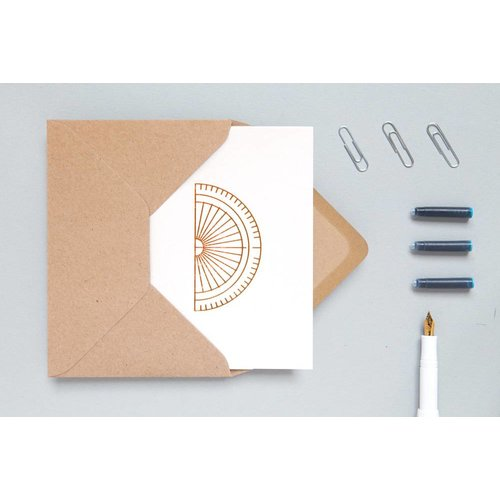 Ola Foil Blocked Cards: Protractor Stone/Copper