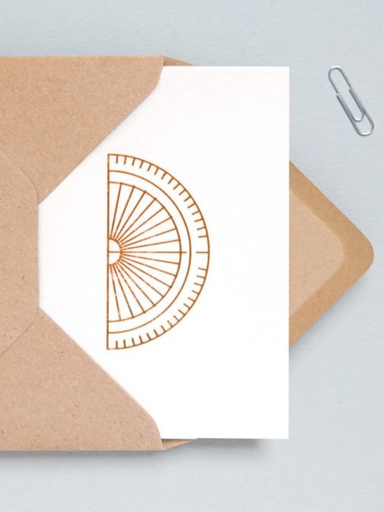 Ola Ola Foil Blocked Cards: Protractor Stone/Copper
