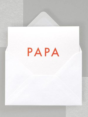 Ola Foil Blocked Fluorescent Cards: Papa