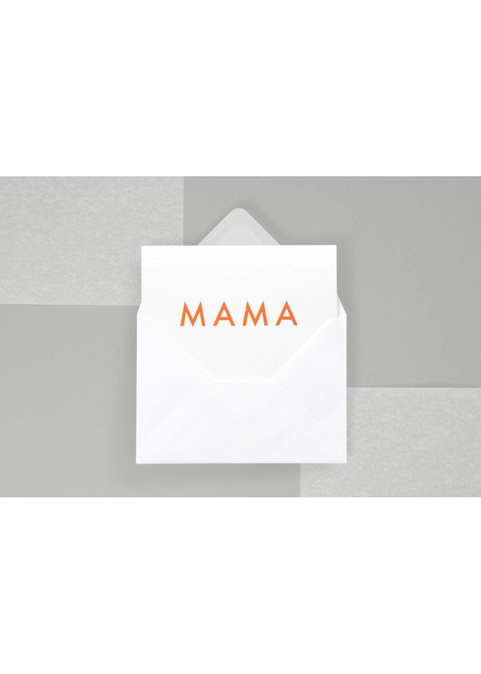 Ola Ola Foil Blocked Fluorescent Cards: Mama