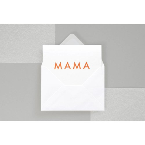 Ola Foil Blocked Fluorescent Cards: Mama