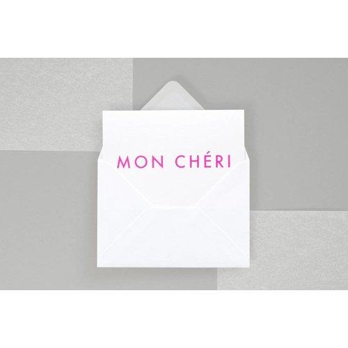 Ola Foil Blocked Fluorescent Cards: Mon Cherie