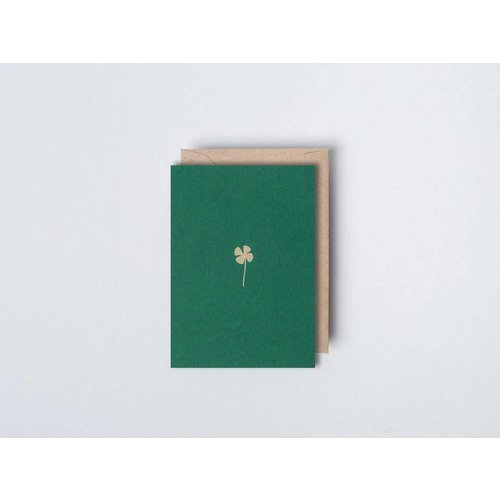Ola Foil Blocked Card - Small Botanical Collection -  Clover