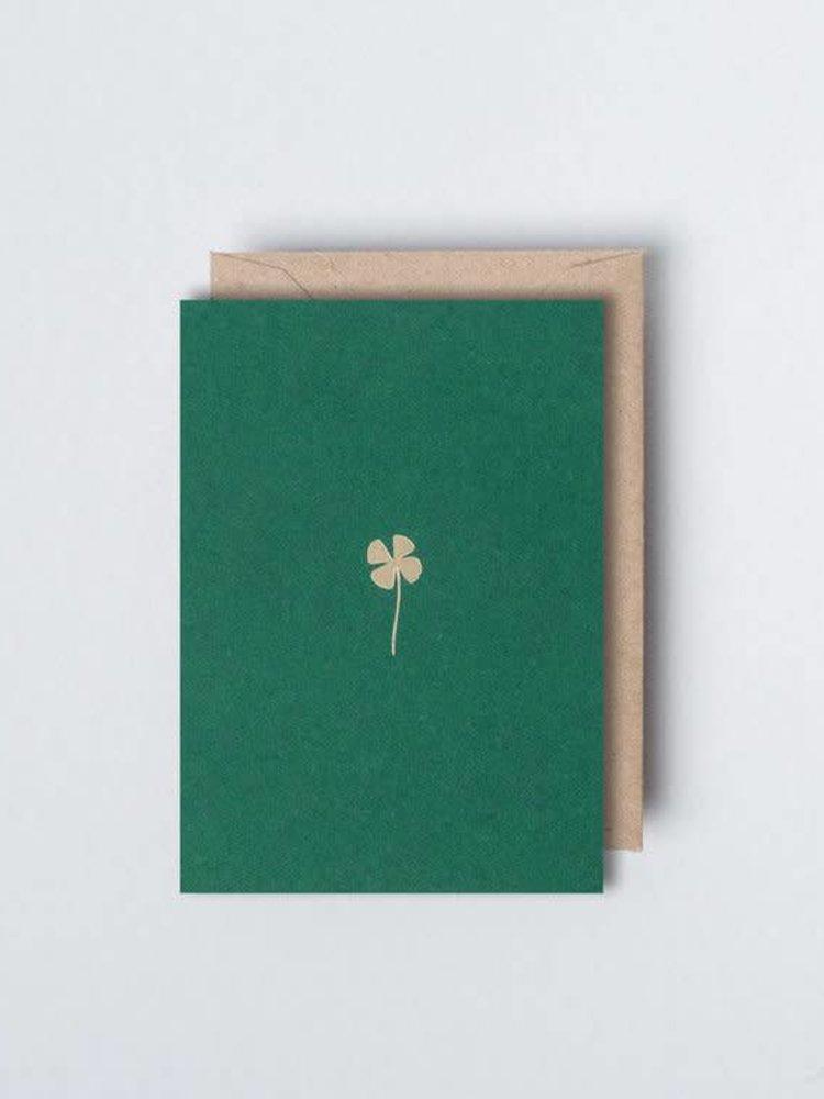 Ola Ola Foil Blocked Card - Small Botanical Collection -  Clover