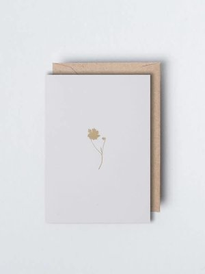 Ola Foil Blocked Card - Small Botanical Collection -  Coreopsis