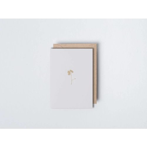 Ola Foil Blocked Card - Small Botanical Collection -  Forget Me Not