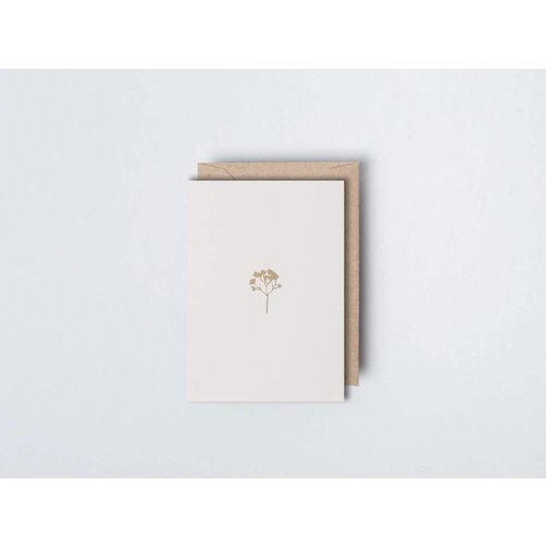 Ola Foil Blocked Card - Small Botanical Collection -  Gysophila