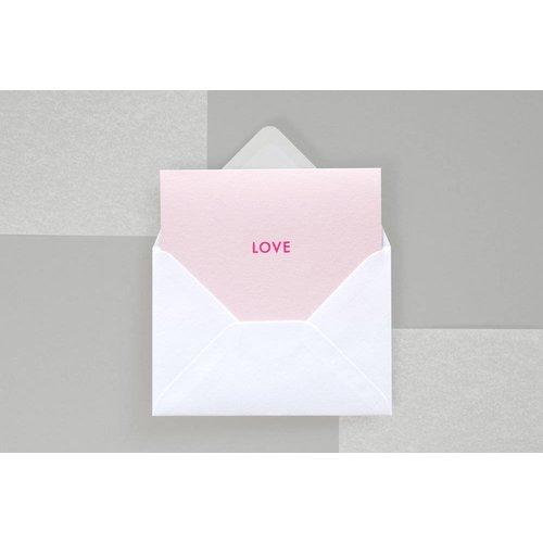 Ola Ola Foil Blocked Fluorescent Cards: LOVE
