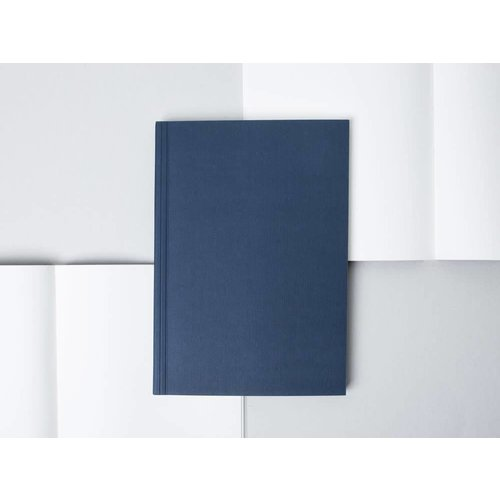 Ola Medium Layflat Notebook: Everyday Objects Edition 1: Circle Navy/Plain
