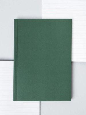 Ola Ola Medium Layflat Notebook: Everyday Objects Edition 1: Triangle Green/Ruled