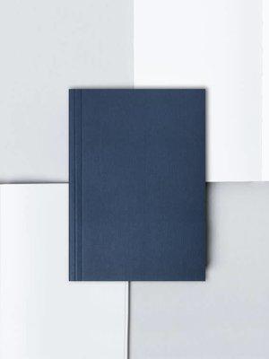 Ola Ola Pocket Layflat Notebook: Everyday Objects Edition 1: Circle Navy/Plain