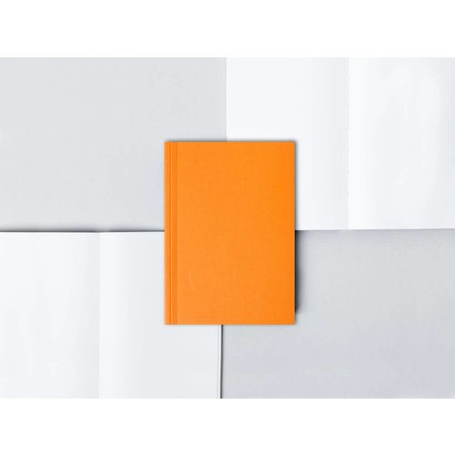 Ola Pocket Layflat Notebook: Everyday Objects Edition 1: Circle Orange/Plain