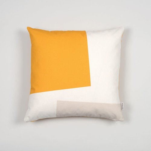 Tom Pigeon Cushion 006 - Yellow